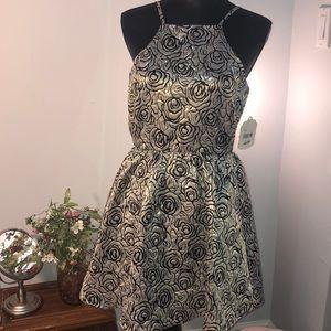 Gold and black rose dress
